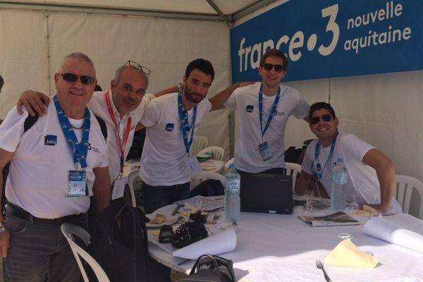 L'équipe de France Bleu Poitou sur le TPC2018