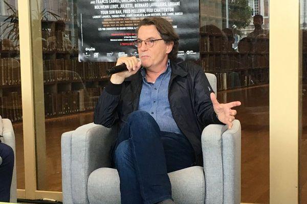 Francis Cabrel à la médiathèque de Troyes-Champagne métropole, le mardi 13 juin 2018.