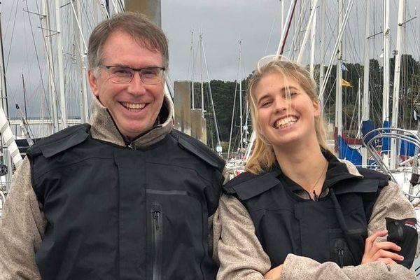 Le père, Christian et sa fille, Clara Dumard