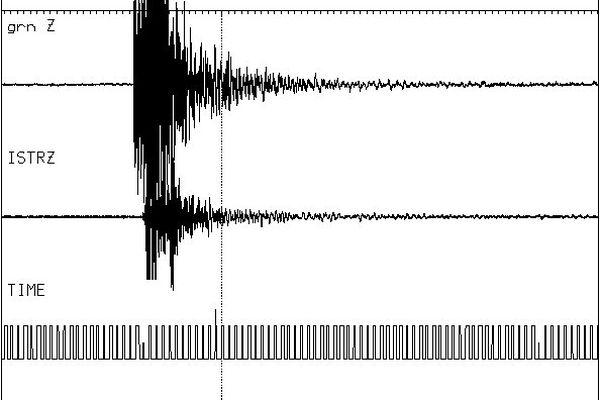 Les sismographes du réseau Sismalp ont enregistré une légère secousse à 1h18 (UTC)