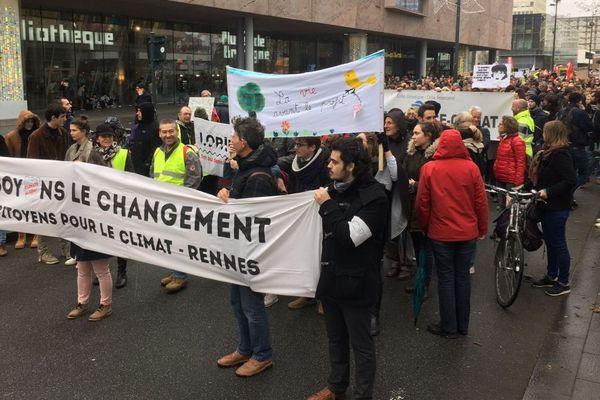 La marche pour le climat à Rennes a réuni plus de 2 000 personnes
