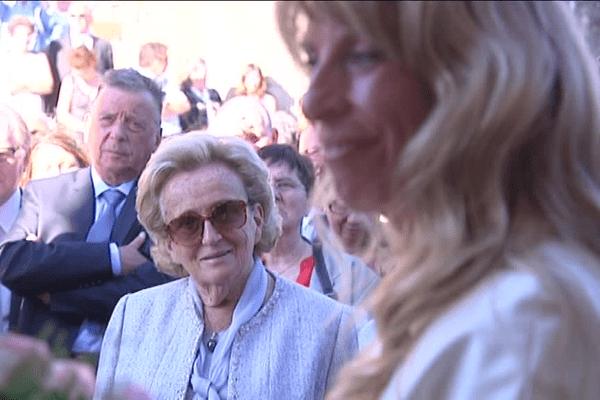 Bernadette Chirac au mariage de Sophie Dessus en septembre 2012