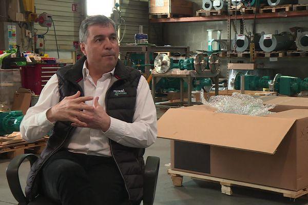 Philippe Eyraud, gérant de l'entreprise d'industrie agro-alimentaire et pharmaceutique