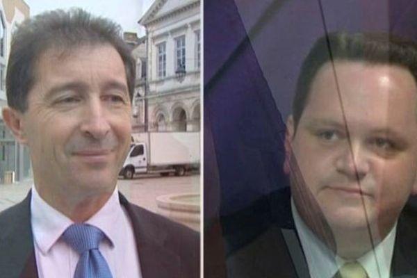 """Régis Tellier Candidat  tête de liste """"Vivre Châteauroux"""" (SE) et Arnaud Clément Candidat tête de liste """"Ensemble Châteauroux"""" (SE)"""