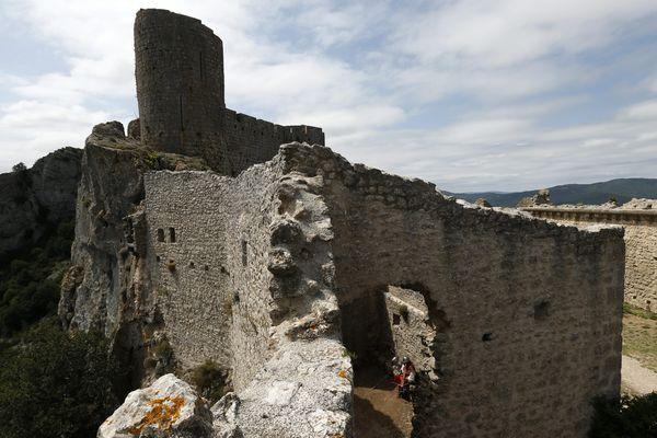 Aude - Il est possible de visiter le château de Peyrepertuse toute l'année - juillet 2021.