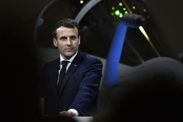 Emmanuel Macron lors des voeux aux Armées le 16 janvier 2020