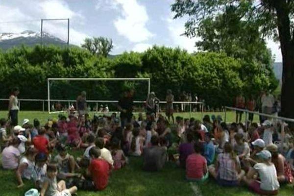 Au collège de Grésy-sur-Isère, c'est la première fois que les petits élèves étaient soumis à ce type de simulation.