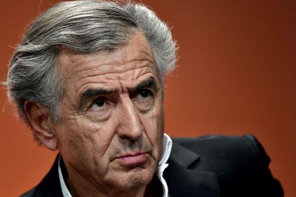 Bernard-Henri Levy photographié en mai 2017 lors d'un forum contre l'abstention, deux jours avant le second tour des élections présidentielles.
