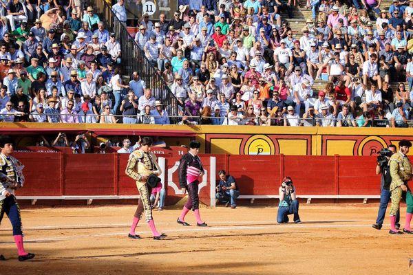 Jeudi 28 juin, Algeciras. Au paseo, Morante de la Puebla, El Juli, Roca Rey : 3 figures! Les gradins sont pleins. Ne manque qu'un ingrédient : les toros…