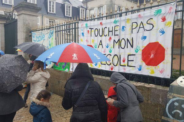 Manifestation à Guéret contre la carte scolaire en 2017 (archives).