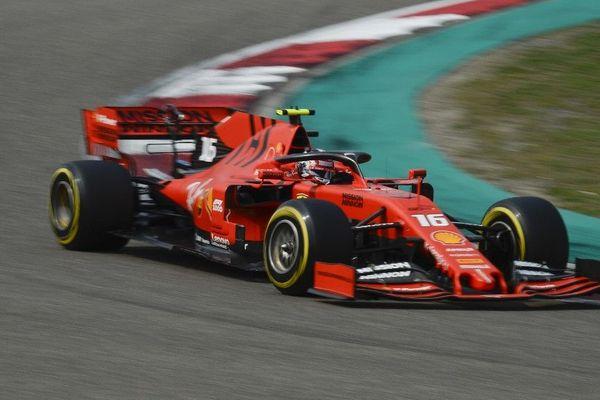 Charles Leclerc, le 13 avril, lors des qualifications pour le Grand Prix de Chine