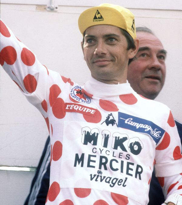 Raymond Martin avec son maillot à pois en 1980