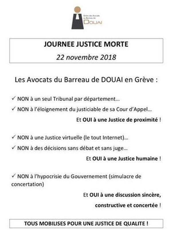 Tract des avocats du barreau de Douai