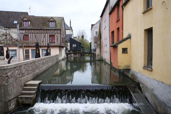 Au détour d'une ruelle de Montargis, en plein centre-ville.