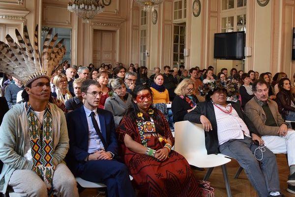 """Ils sont venus nombreux assister, ce lundi 6 mai, à la conférence de Cyril Dion """"Et maintenant ? Croire aux possibles"""", à l'Hôtel de Ville de Metz, en conclusion du G7 de l'environnement."""