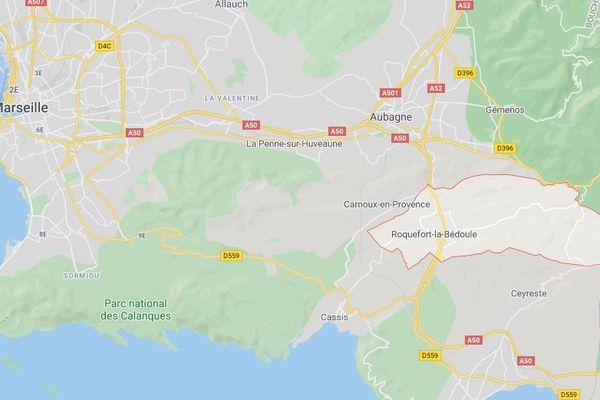 Roquefort-la-Bédoule (Bouches-du-Rhône) : accident mortel tôt ce dimanche matin pour deux jeunes hommes d'une vingtaine d'années.