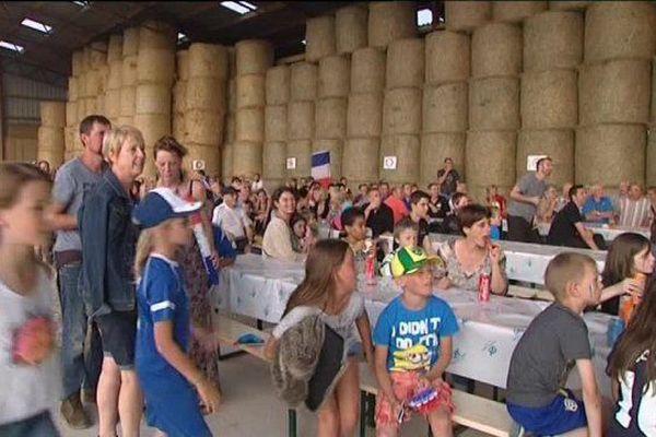 Ce n'est pas la première fois que les agriculteurs s'organisent en Haute-Saône pour vivre ensemble un match de l'Equipe de France.