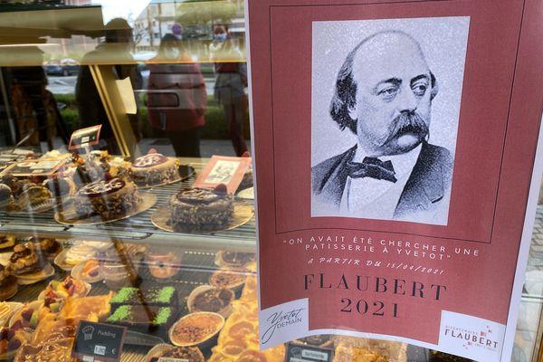 """Avril 2021 - Une des réalisations des boulangers-pâtissiers d'Yvetot (Seine-Martime en évocation de """"Madame Bovary"""" dans le cadre de l'année Flaubert"""