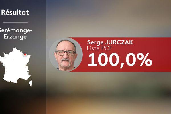 Serge Jurczak pourra accomplir son deuxième mandat à la tête d'un conseil municipal 100% PCF.