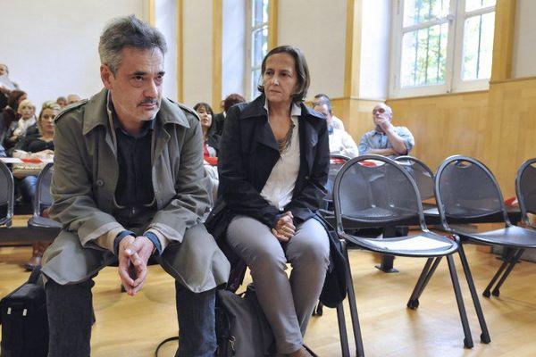 Frédéric et Paola Marin, les parents d'Agnès, en septembre 2014 à Riom lors du procès en appel de Matthieu, le violeur et meurtrier de leur fille.