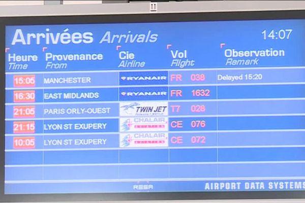 A l'aéroport de Limoges-Bellegarde, les avions en provenance de Manchester ont accusé quelques minutes de retard