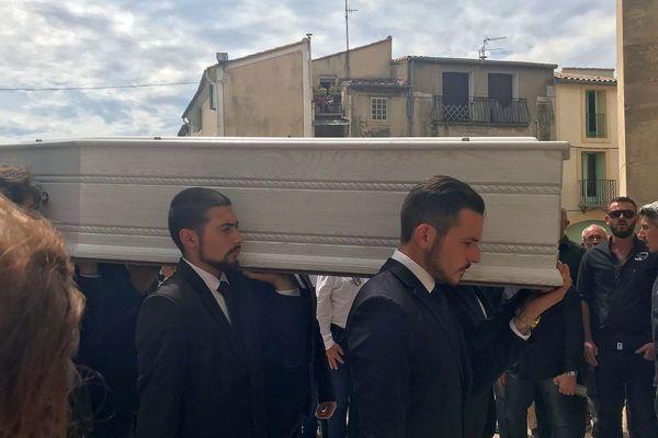 Fabrègues (Hérault) - obsèques du jeune rugbyman Louis Fajfrowski, il avait 21 ans - 17 août 2018.