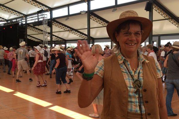 Marie-Martine est venue de Seine-et-Marne pour assister à l'American Tours Festival