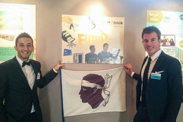 Jeremy Neyrou et Fabien Raiola lors de la remise du prix PEPITE-Tremplin pour l'entreprenariat étudiante