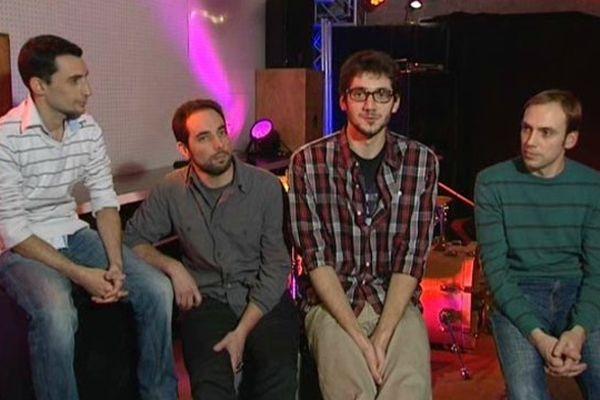 Tof, Vincent, Vivien et Pascal du groupe « un p'tit air de Rien »