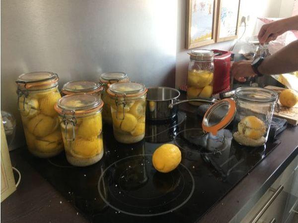 On a mis les citrons de « Bree » en bocaux avec Nicolas