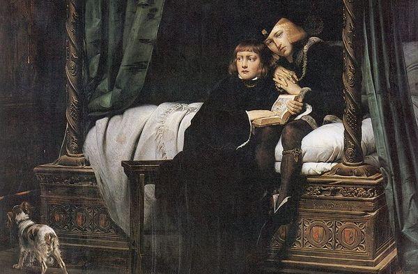 Edouard V et Richard de Shrewsbury peints par Paul Delaroche en 1831.