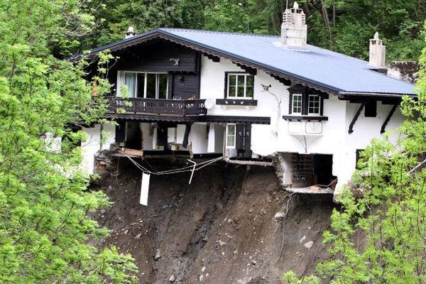 Une maison détruite à Barèges (65)