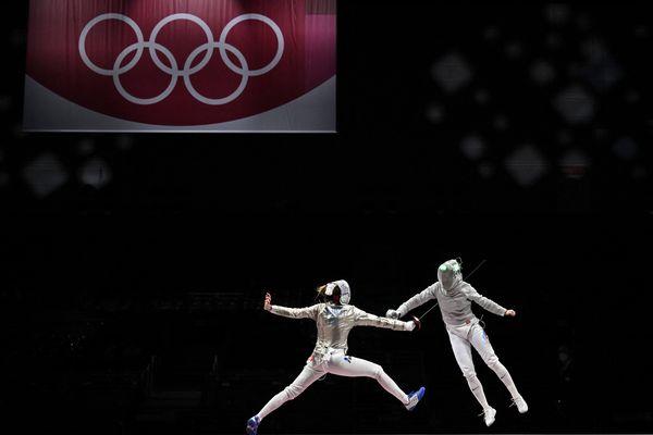 Les tireuses tricolores sacrées vice-championnes olympiques par équipes samedi 31 juillet.