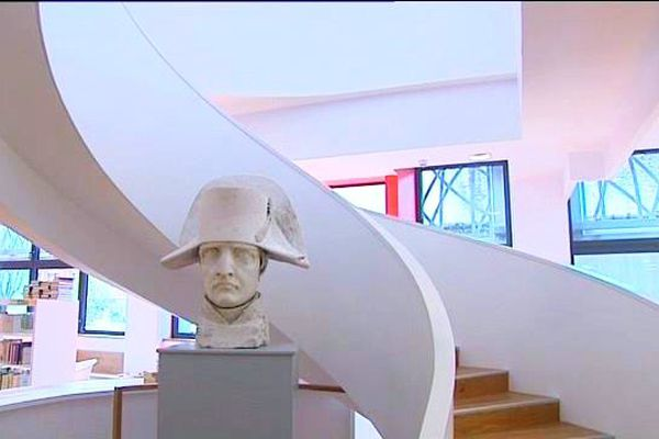 Le buste de Napoléon, au musée Jacques Prévert de Cherbourg
