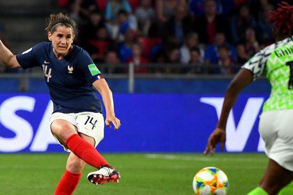 Charlotte Bilbault contre le Nigéria, en phase de poules de la Coupe du monde.