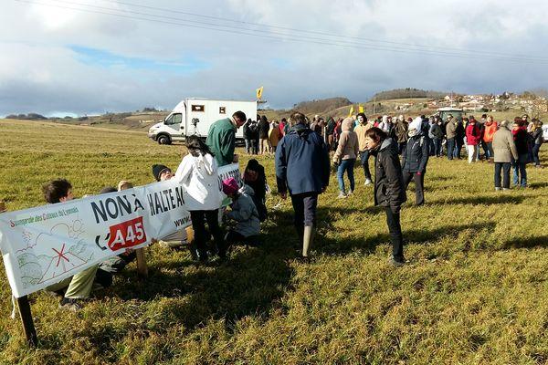 Manifestation anti A45 suite risque d'expropriation- Duerne le 04/02/2017
