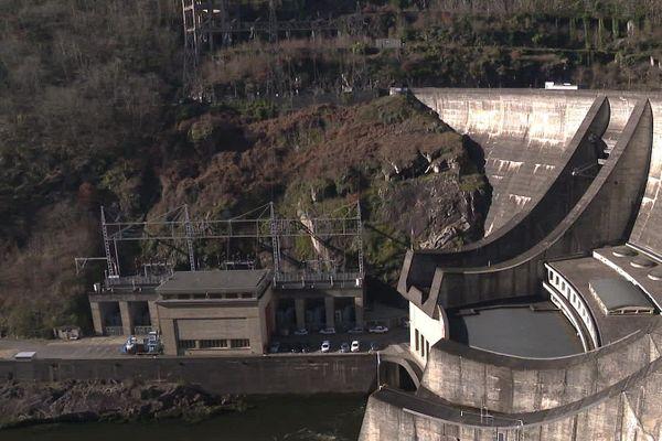 Le barrage du Chastang ne Corrèze