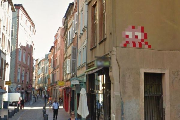 Le Space Invader de la rue des Filatiers a disparu