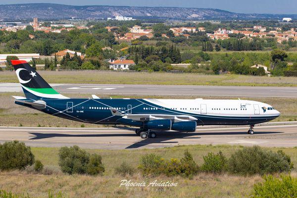 L'ancien avion présidentiel de Mouammar Kadhafi est stocké à l'aéroport de Perpignan-Rivesaltes depuis 2014.