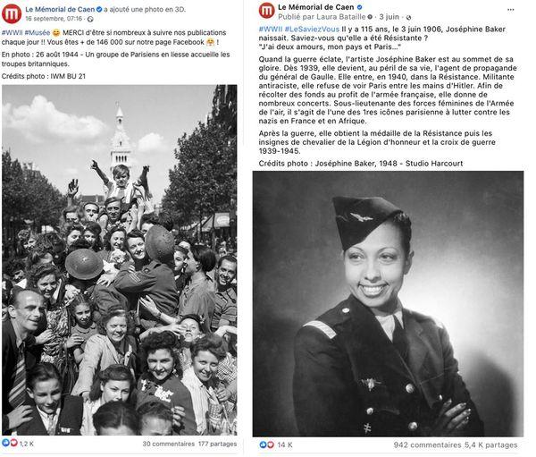 Ces deux posts du Mémorial ont suscités des milliers de commentaires des internautes.