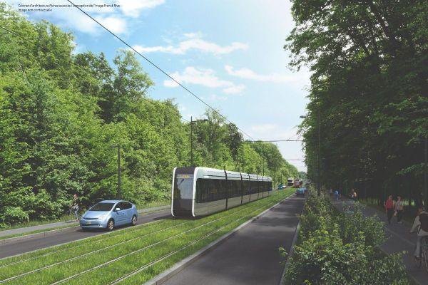 Le futur tram de Tours à Chambray-lès-Tours - route de Loches