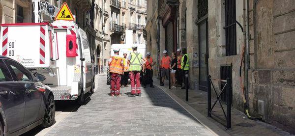 Rue de la Rousselle, à Bordeaux. Une vingtaine de personnes relogées en famille et chez des amis. Les autres sont prises en charge par le CCAS.