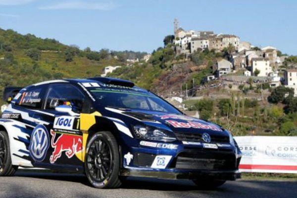 Sébatien Ogier en course dans le Tour de Corse