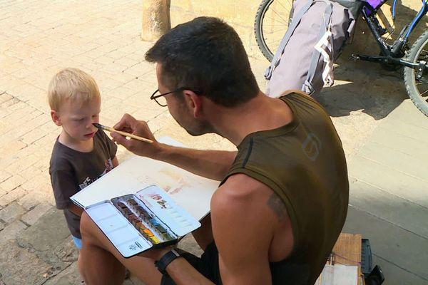 Le cycliste est peintre, et vice-versa...