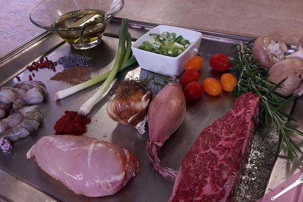 Les ingrédients de la marinade pour barbecue