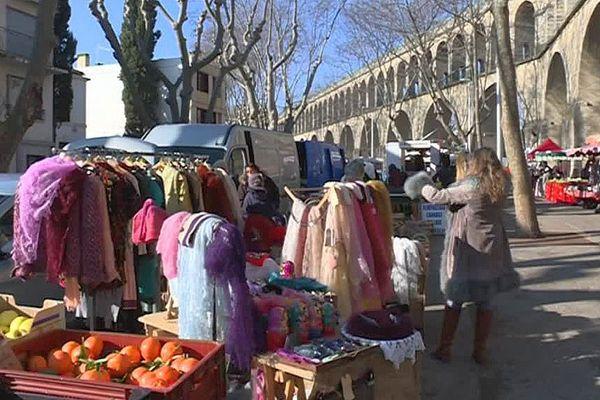 Montpellier - le marché des Arceaux - janvier 2017.