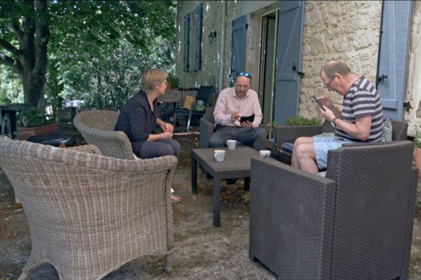 Frédéric Mandis à la rencontre d'un couple britannique installé en Lot-et-Garonne