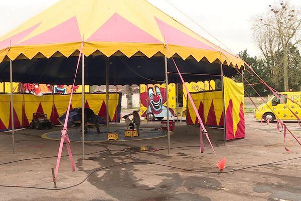 Le cirque Circus confiné à Châtillon-sur-Seine depuis plusieurs semaines à cause de l'épidémie de coronavirus COVID-19