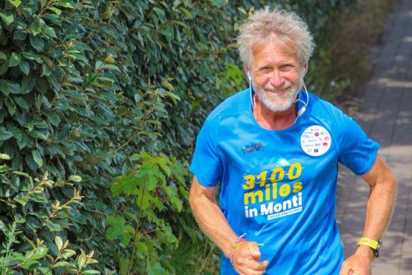 Patrick Malandain court 102 km en moyenne chaque jour dans sa commune de Montivilliers (76). Il devrait terminer son parcours le 3 août dans la soirée, avec une journée d'avance.