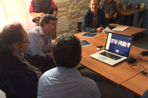 La conférence de presse de Patrick Mardikian et de quelques-uns de ses soutiens